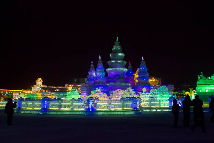 Ice sculptures at the Ice & Snow Festival, Harbin.
