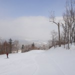 Deserted ski run at Yabuli Sun Mountain.